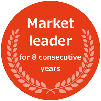 Market leader for 6 consecutive years